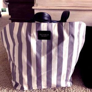 Victoria's Secret Tote/ Gym Bag grey white NWOT